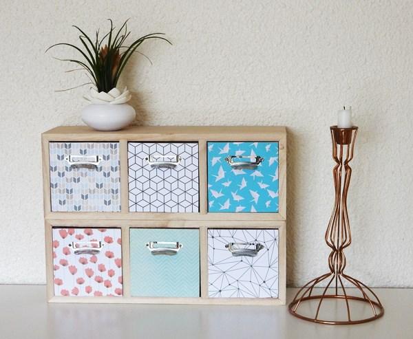 Customisation : Les mini meubles en bois avant/après