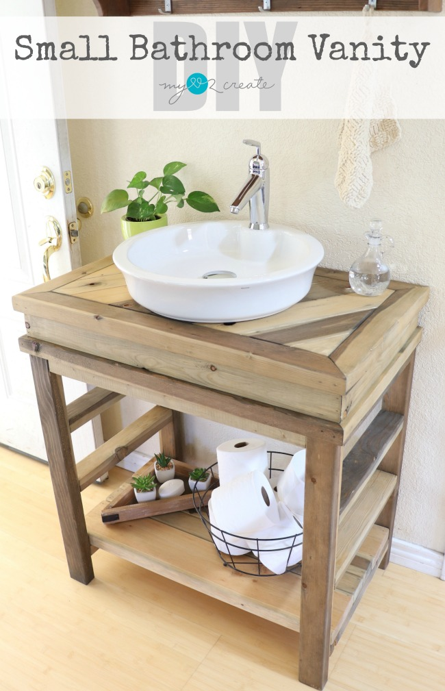 Small bathroom vanity my love 2 create for Design your own small bathroom