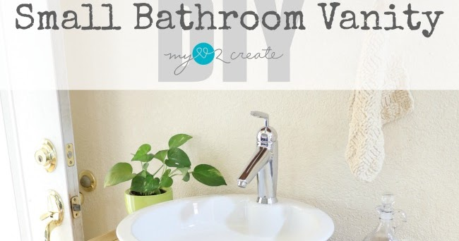 Fit Crafty Stylish And Happy Guest Bathroom Makeover: Small Bathroom Vanity