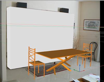 l'immagine finale, con il 3D integrato con lo sfondoe il box della libreria di riferimento