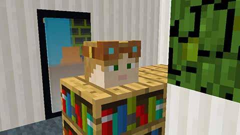 マイクラ-mobの頭が映るリアルな鏡の画像01