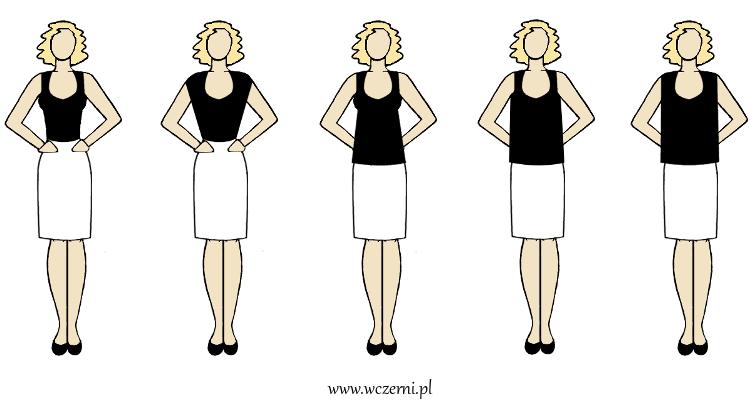 szerokie ramiona wyszczuplone za pomocą dobrze dobranego fasonu bluzki