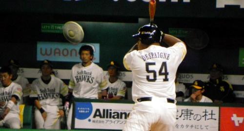 El slugger Cubano Alfredo Despaigne Rodríguez debutó hoy en la pretemporada con los Halcones de Softbank, club de la Liga Japonesa de Béisbol