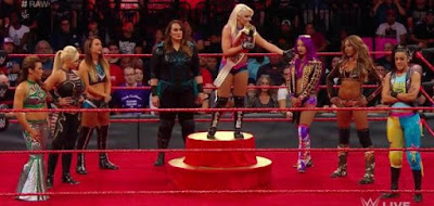 Alexa Bliss Raw Women's Championship Nia Jax Bayley Mickie James
