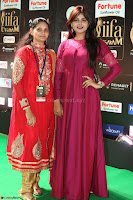 Monal Gajjar in Maroon Gown Stunning Cute Beauty at IIFA Utsavam Awards 2017 078.JPG