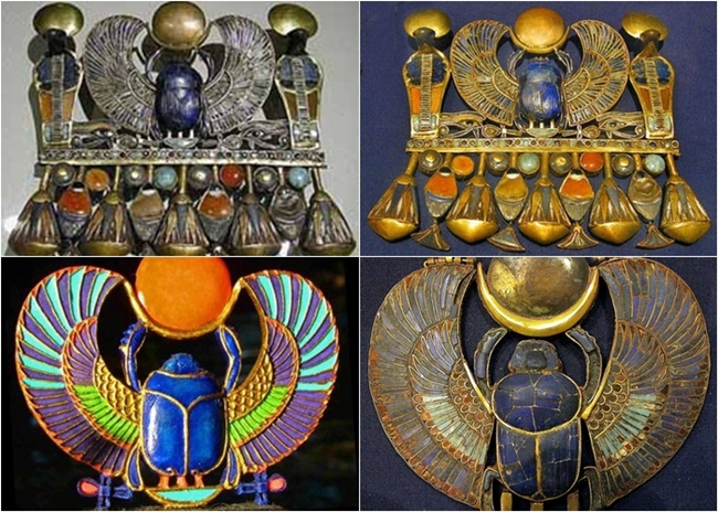 Egyptian scarab decoration