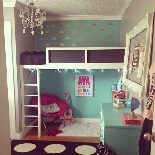 Small Bedroom Bunk Bed Ideas: Mommo Design: GIRLY LOFT BEDS