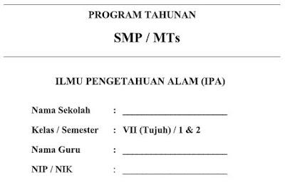 Prota Kurikulum 2013 IPA Kelas VII (7) SMP/MTs Semester 1 dan 2-http://www.librarypendidikan.com/