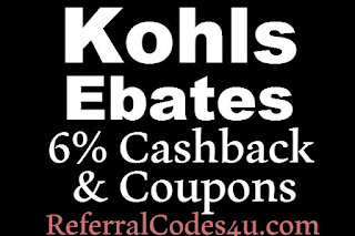 Kohl's Ebates Cashback February, March, April, May, June, July 2016