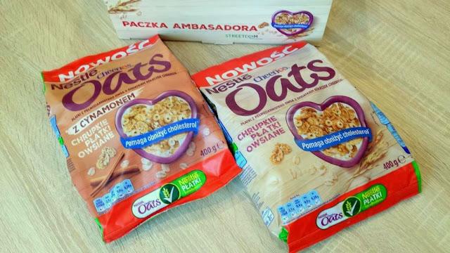 nestle cheerios oats chrupkie płatki owsiane z cynamonem