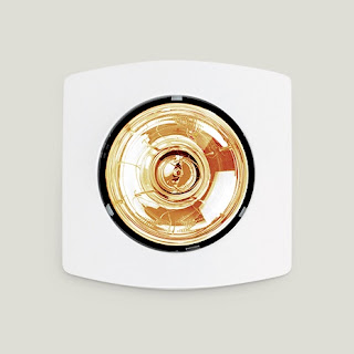 đèn sưởi âm trần hồng ngoại 1 bóng phòng tắm