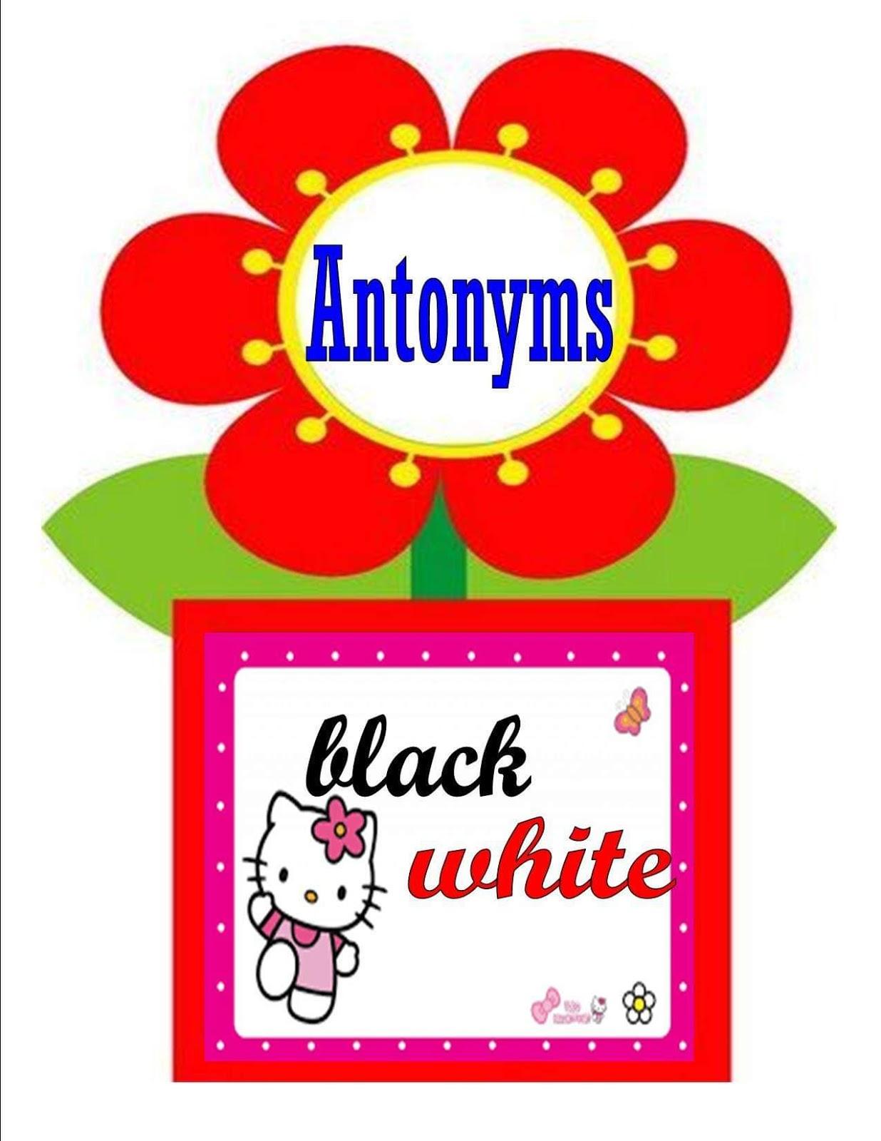 Teacher Fun Files Antonym Flashcards 2