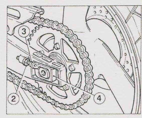 CAGIVA MITO 125 : Cagiva mito 125 Chain adjustment / sprocket