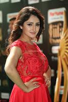 Saisha looks Glamorous Super cute in Transparent Red Gown at IIFA Utsavam Awards 006.JPG