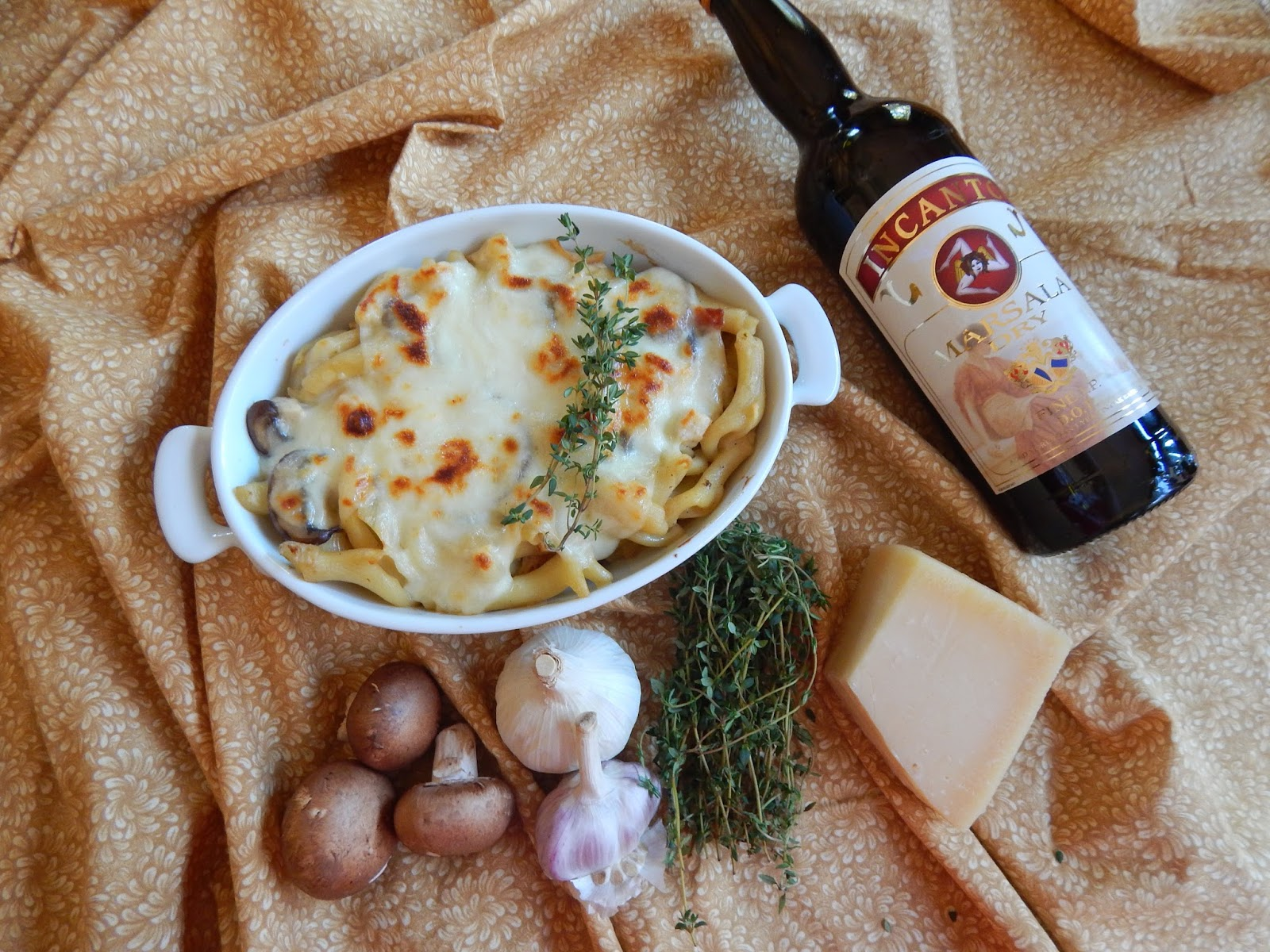 The Nerdy Chef Chicken Marsala Pasta Bake