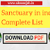 Bird Sanctuary in india Complete List Download PDF competitive exam