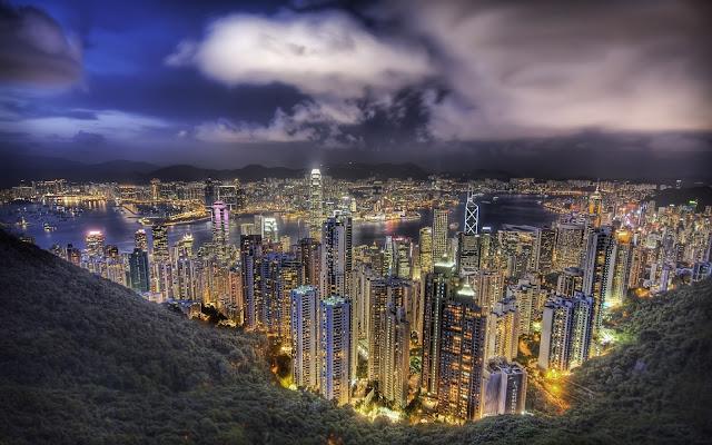 Hong Kong noću download besplatne pozadine za desktop 2560x1600 gradovi