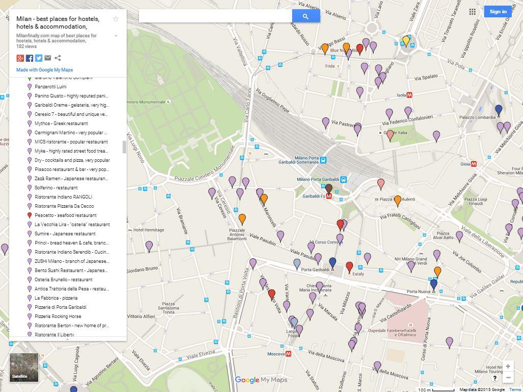 Milan Porta Garibaldi Corso Como Isola Interactive Google Map Best Areas For Hotels Apartments