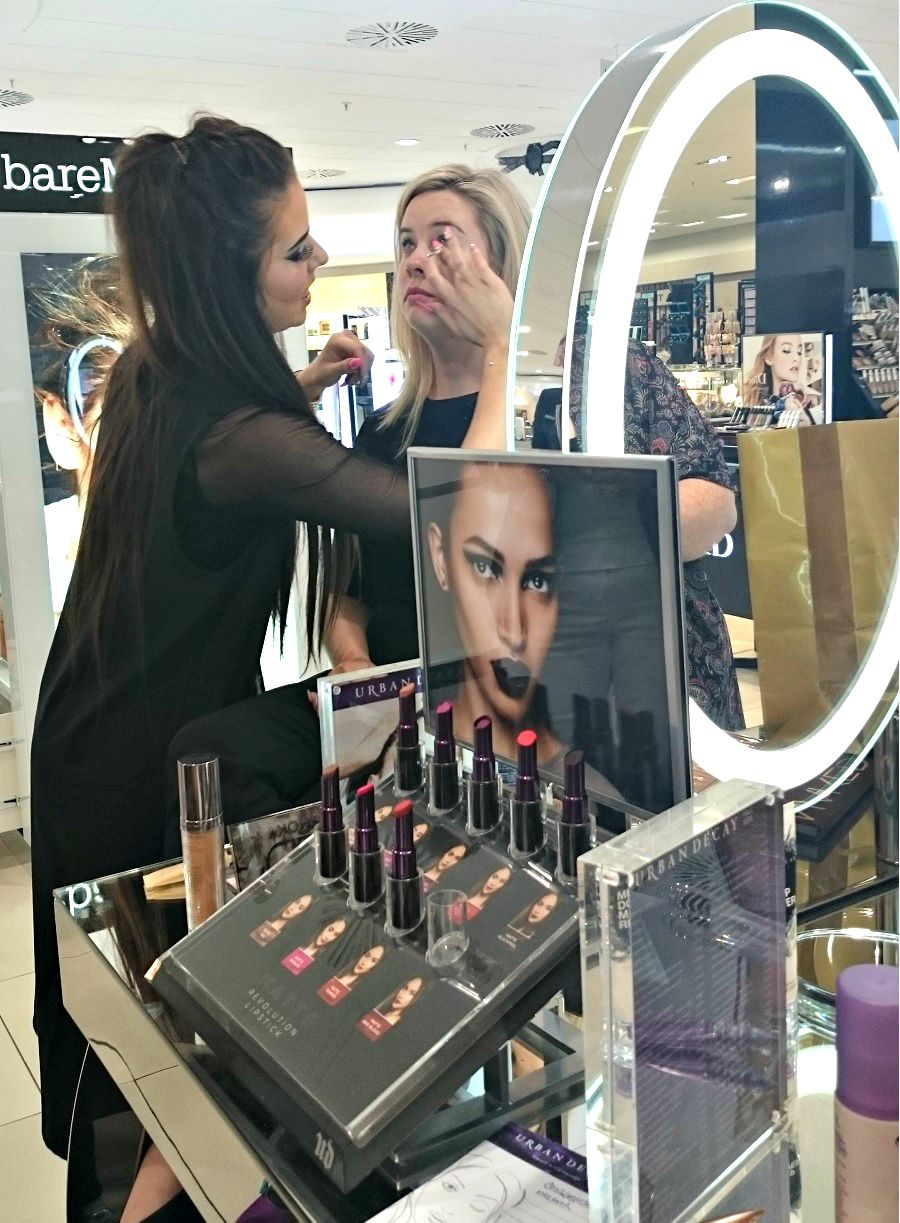 Makeup Demonstrations at Debenhams Foyleside Derry, Beauty Hall, Irish Blog, The Style Guide Blog