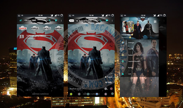 download BBM-MI Mod Terbaru Versi 2.13.0.22 Tema Batman Vs Superman