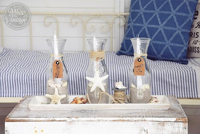 Sommerliche Windlichter im maritimen Stil selber machen