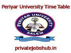 Periyar University Time Table