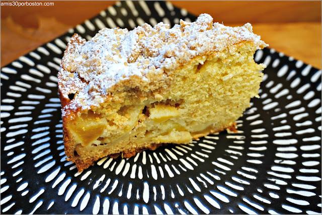 Porción de Bizcocho de Manzana con Especias