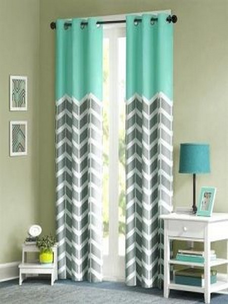 grey chevron blackout curtains