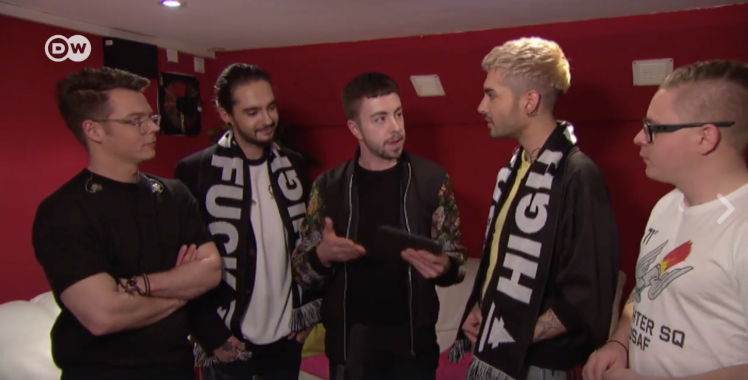 new video tokio hotel interview for dw popxport fan questions new video tokio hotel interview for dw popxport fan questions hamburg 15 03 2017