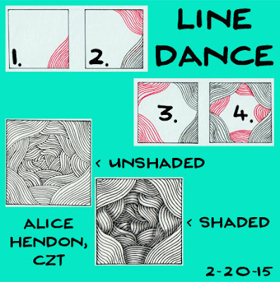 step outs to tangle pattern line dance, Alice hendon