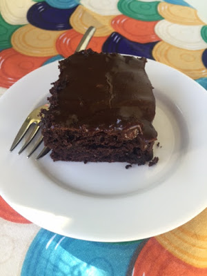 Featured Recipe // Too Much Chocolate Cake from Little Bit of Everything