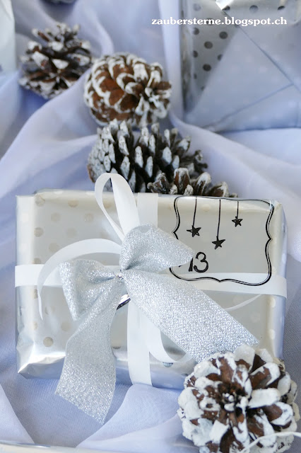 Geschenk schön verpackt, Ikea Geschenkpapier, Adventskalender