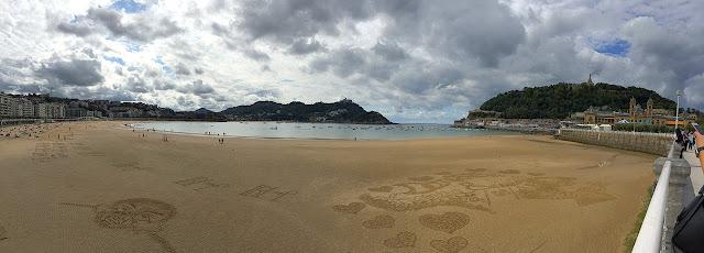 La plage de San Sebastian