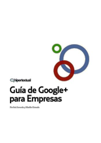 Guía de Google+ para Empresas – Inti Acevedo