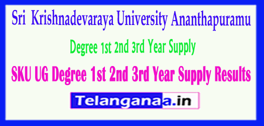 SKU UG Sri Krishnadevaraya University Degree 1st 2nd 3rd Year 2018 Supply Results