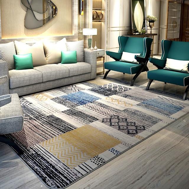 tapis salon moderne pas cher