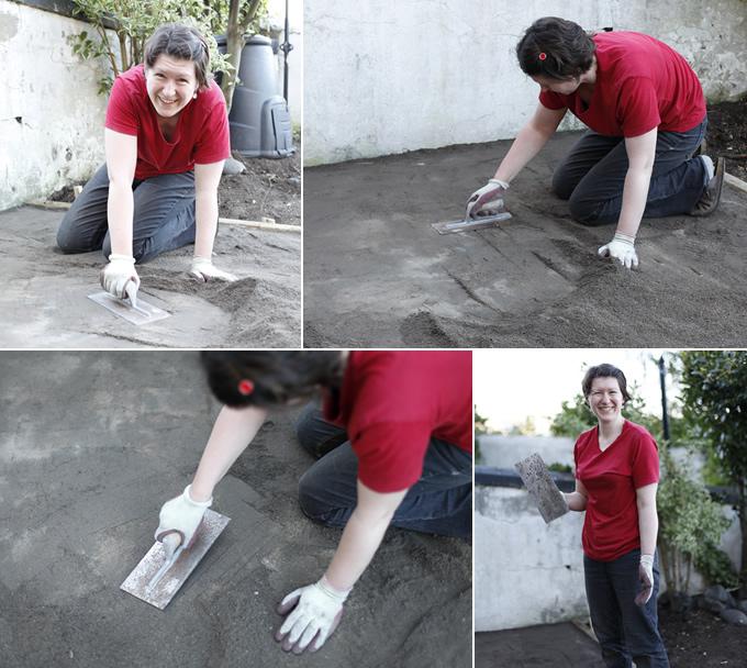 bricolaje, empedrar, suelo, manualidades, hogar, albañilería