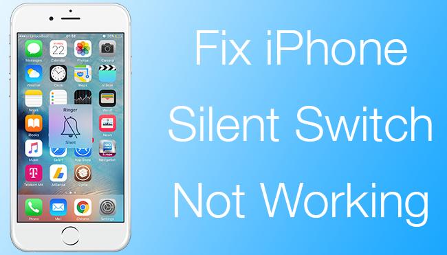 Fix Silent Button iPhone