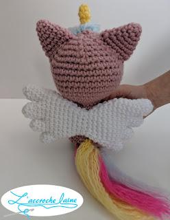 L'accroche laine - Pixel le chat-licorne