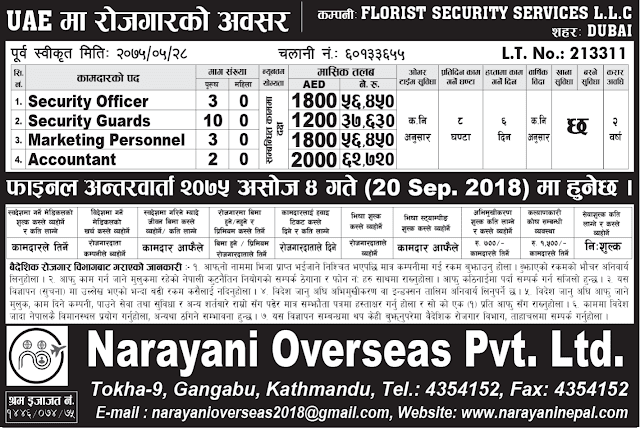 Narayani Overseas Pvt. Ltd. jagiredai