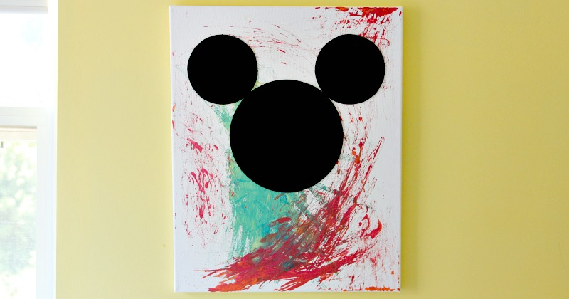 DIY Disney Canvas Art Inspired By Mickey The Roadster Racers