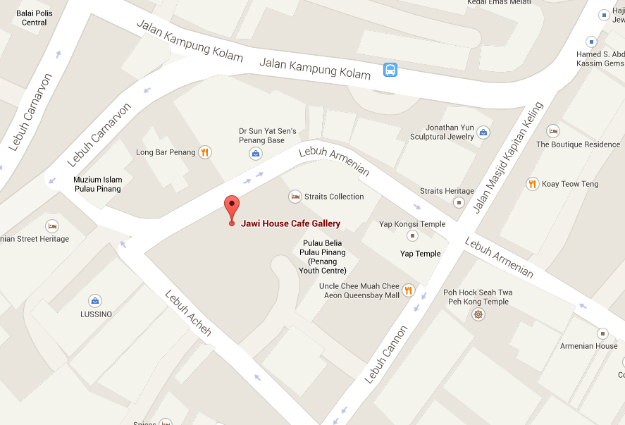 Penang Location Map - Jawi House Cafe Gallery