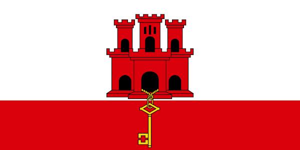 Logo Gambar Bendera Negara Gibraltar PNG JPG ukuran 600 px