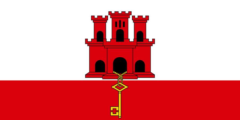 Logo Gambar Bendera Negara Gibraltar PNG JPG ukuran 800 px