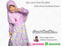 Baju Muslim Anak Perempuan Bahan Kaos