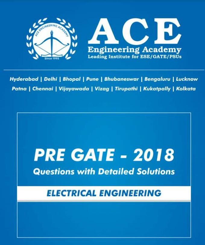 ACE ACADEMY PRE GATE 2018 [ELECTRICAL ENGINEERING]