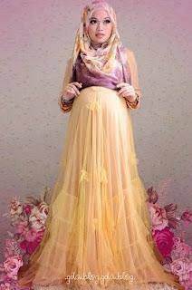 Gaun Pesta Muslimah EleganTerbaru Untuk Ibu Hamil