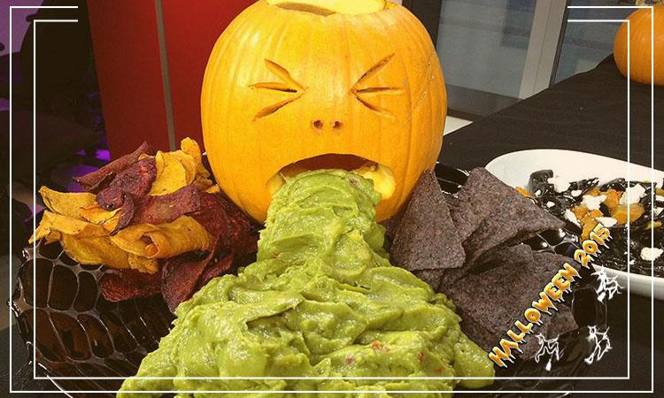 pratos nojentos de halloween