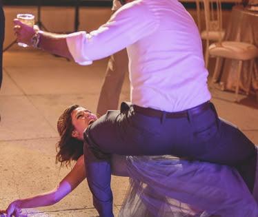 acrobatic wedding dance move