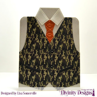Divinity Designs Custom Dies: Couture Collection, Paper Collections: Menswear Material, Embossing Folder: Fish